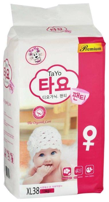 TaYo трусики для девочек XL (от 13 кг) 38 шт.