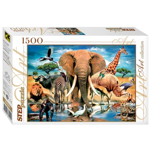 Пазл Step puzzle Art Collection Мир животных (83042), 1500 дет. пазл step puzzle travel collection водопад 83004 1500 дет