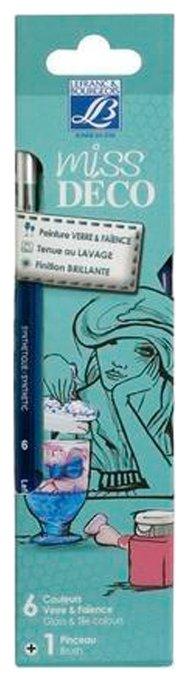 Краски LEFRANC & BOURGEOIS Miss Deco Glass&Tile LF211637 6 цв. (20 мл.)