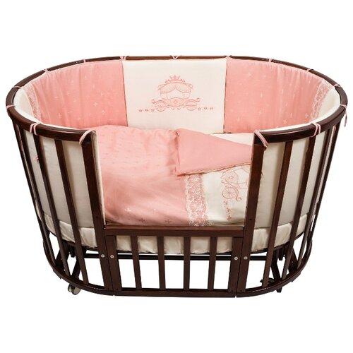 Купить Nuovita комплект Prestigio Pizzo (6 предметов) 125х75 см розовый, Постельное белье и комплекты