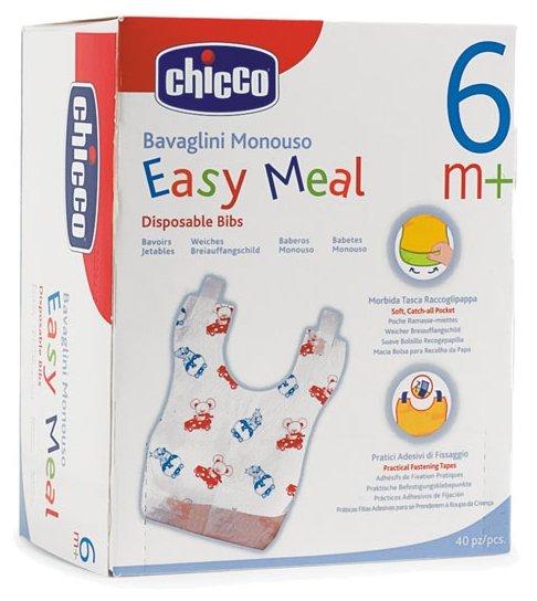 Chicco Комплект нагрудников одноразовых 6М+ (40 шт)