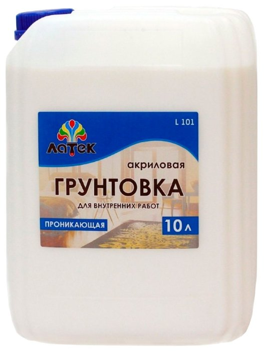Грунтовка ЛАТЕК Л 101 для внутренних работ (10 л) — купить по выгодной цене на Яндекс.Маркете