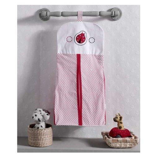 Kidboo Прикроватная сумка Little Ladybug бело-красный