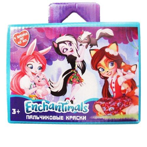 Купить CENTRUM Пальчиковые краски Enchantimals 4 цвета х 40 мл (88629), Краски