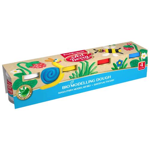 Купить Пластилин ErichKrause Artberry с Алоэ Вера 4 баночки по 100г (41773), Пластилин и масса для лепки