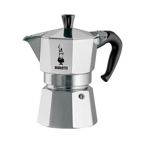 Гейзерная кофеварка Bialetti Moka Express 1161 (1 чашка), металлик