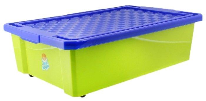 Детский ящик для хранения игрушек Пластик Репаблик средний 30л красный на колёсах 1018LA-RD