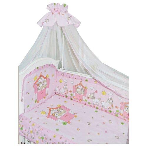 Купить Золотой Гусь комплект Лошадки (7 предметов) розовый, Постельное белье и комплекты