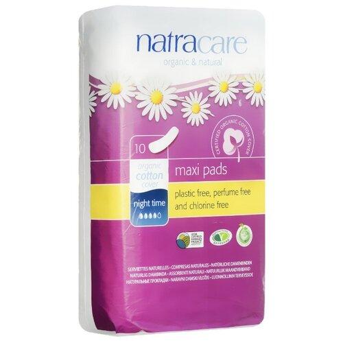 Natracare прокладки Maxi pads ночные без крылышек 10 шт.Прокладки и тампоны<br>