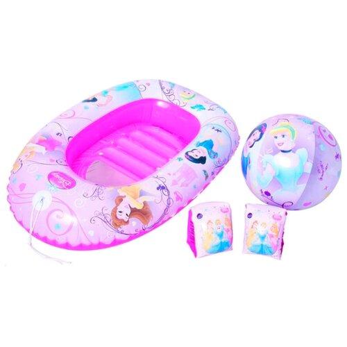 Купить Пляжный набор Bestway Disney Princess 91054 BW розовый, Надувные игрушки