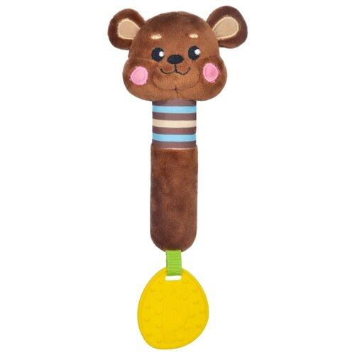 Купить Прорезыватель-погремушка Жирафики Мишка 939517 коричневый, Погремушки и прорезыватели
