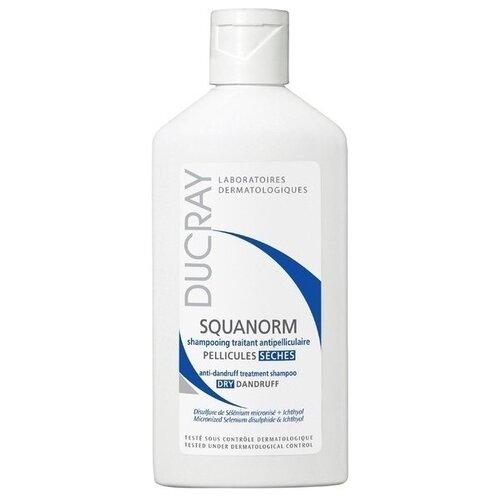 Фото - Ducray шампунь Squanorm Dry Dandruff 200 мл ducray физиологический защитный шампунь сенсинол 200 мл ducray шампуни для частого применения