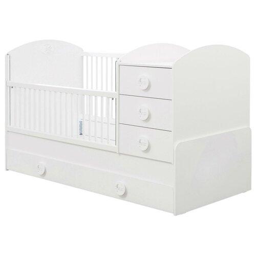 Кроватка Cilek Baby Cotton SL (трансформер) белый кроватка jakomo teo 7 в 1 трансформер белый