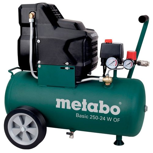 цена на Компрессор безмасляный Metabo Basic 250-24 W OF, 24 л, 1.5 кВт