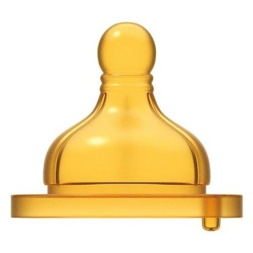 Купить Соска Chicco Well-Being латексная (средний поток) 2м+ 2шт. желтый, Соски для бутылочек