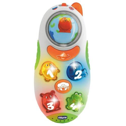 Интерактивная развивающая игрушка Chicco Говорящий телефон рус/англ белый фото