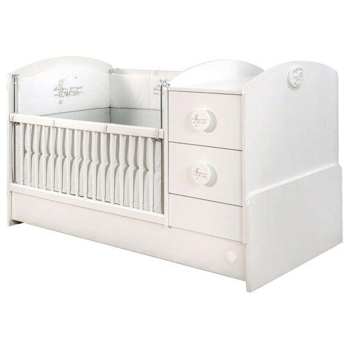 Купить Кроватка Cilek Baby Cotton St (трансформер) белый матовый, Кроватки