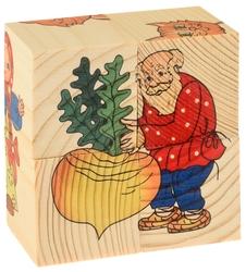 Кубики-пазлы Развивающие Деревянные Игрушки Репка Д504а