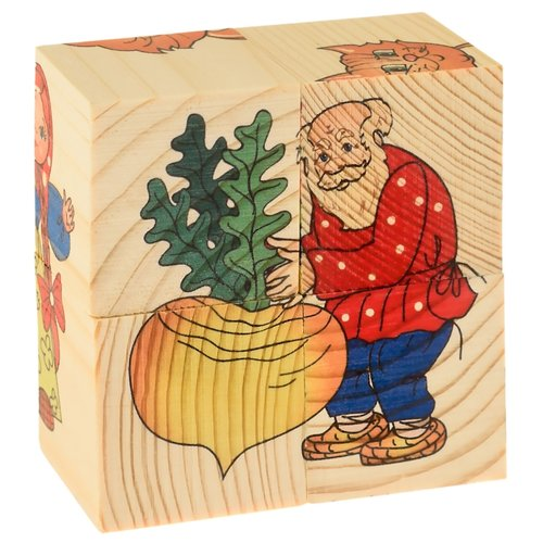 Купить Кубики-пазлы АНДАНТЕ Репка Д504а, Детские кубики