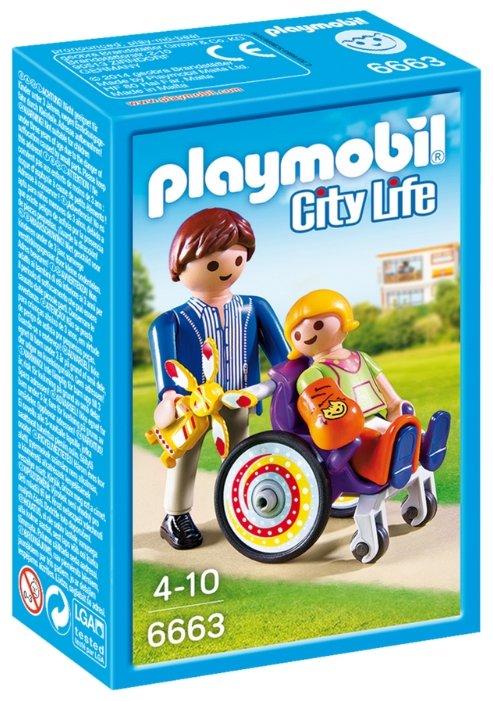Набор с элементами конструктора Playmobil City Life 6663 Ребенок в кресле-коляске