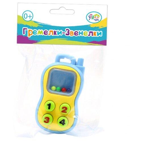 Купить Погремушка Shantou City Daxiang Plastic Toys Телефон 50367 желтый, Погремушки и прорезыватели