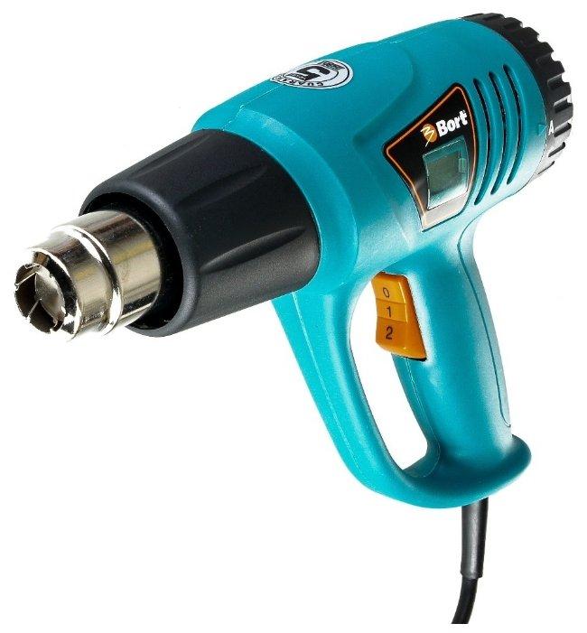 Строительный фен Bort BHG-2000L-K Case 2000 Вт