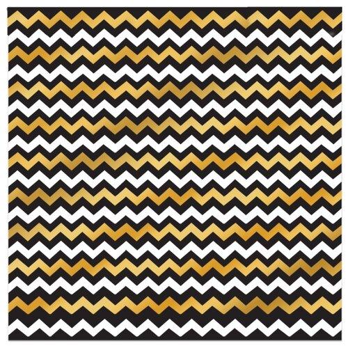 Купить Бумага Арт Узор Зигзаг 2735350, 30.5x30.5 см, 10 листов белый/золотой/черный, Бумага и наборы