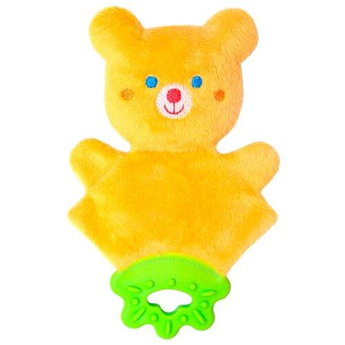 Купить Прорезыватель-погремушка Мякиши Мистер Тед 359 желтый/малиновый, Погремушки и прорезыватели