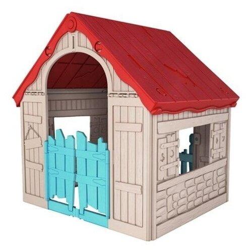 Купить Домик KETER Foldable 17202656 бежево-красный, Игровые домики и палатки