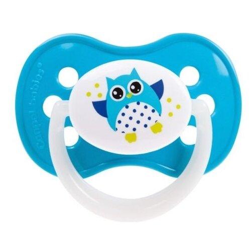 Купить Пустышка силиконовая анатомическая Canpol Babies Owls 0-6 м (1 шт) голубой, Пустышки и аксессуары