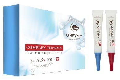 GREYMY Keratin Thermo Active KTA Rx 100 Ампулы концентрированного кератина и коллагена для волос и кожи головы