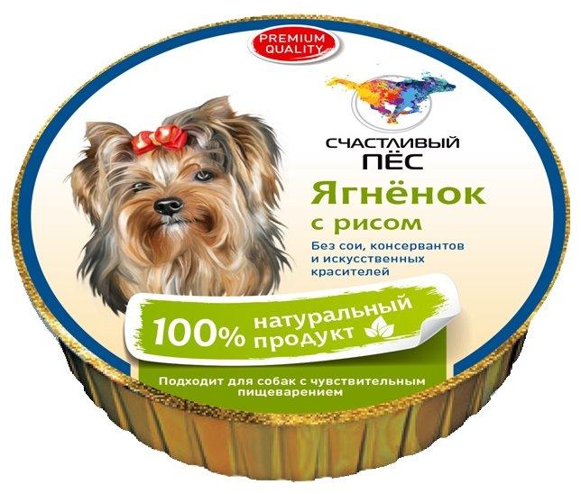 Корм для собак Счастливый пёс Паштет - Ягненок с рисом