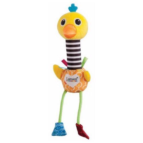 Погремушка Lamaze Веселый страус желтый