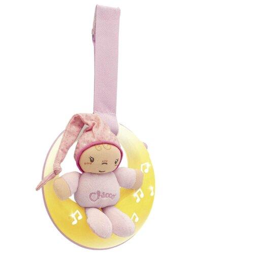 Подвесная игрушка Chicco Спокойной ночи, Луна розовый цена 2017