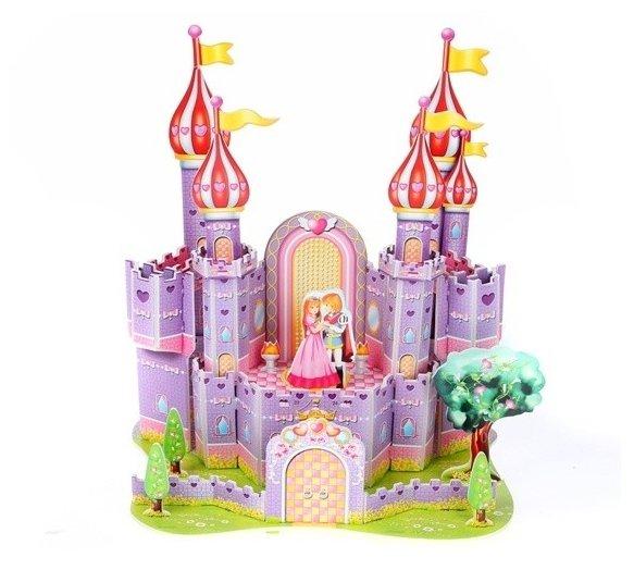 3D-пазл Zilipoo 3D Фиолетовый замок (689-H), 34 дет.
