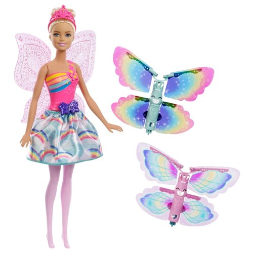 Купить Кукла Barbie Дримтопия Фея с летающими крыльями, 28 см, FRB08, Куклы и пупсы