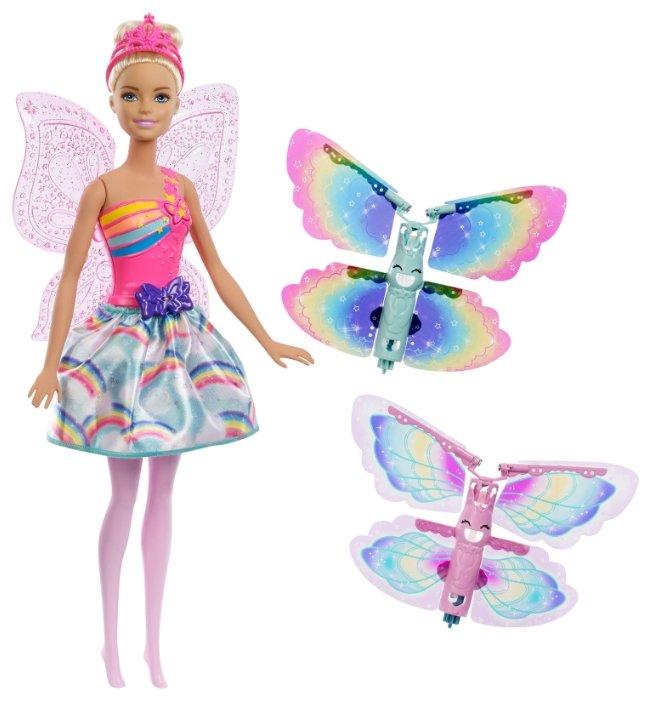 Кукла Barbie Дримтопия Фея с летающими крыльями, 28 см, FRB08