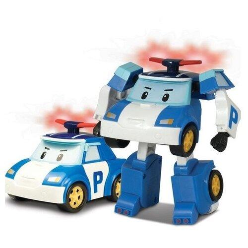 Робот-трансформер Silverlit Robocar Poli 12,5 см с подсветкой и аксессуарами белый/синий