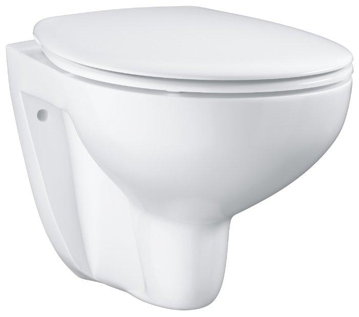Чаша унитаза подвесная Grohe Bau Ceramic 39351000 с горизонтальным выпуском