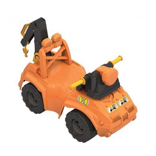 Купить Каталка-толокар Нордпласт Строитель (431013) оранжевый, Каталки и качалки
