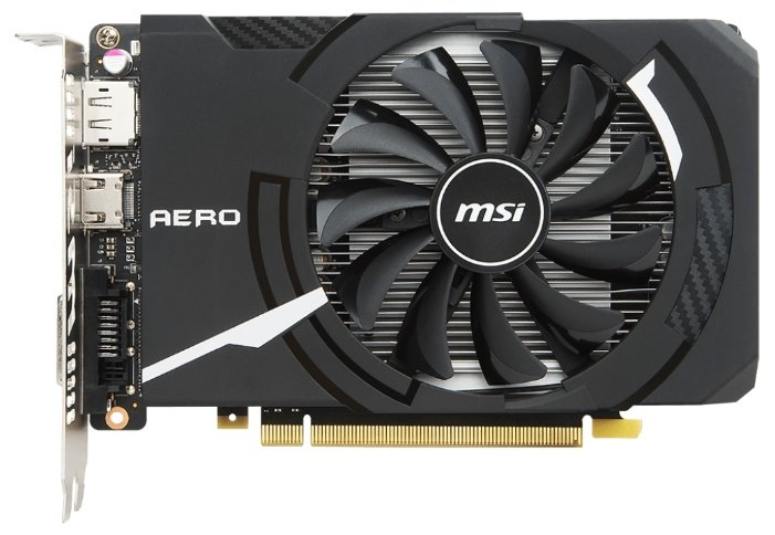 MSI GeForce GTX 1050 Ti 1341Mhz PCI-E 3.0 4096Mb 7008Mhz 128 bit DVI HDMI HDCP AERO ITX OC V1