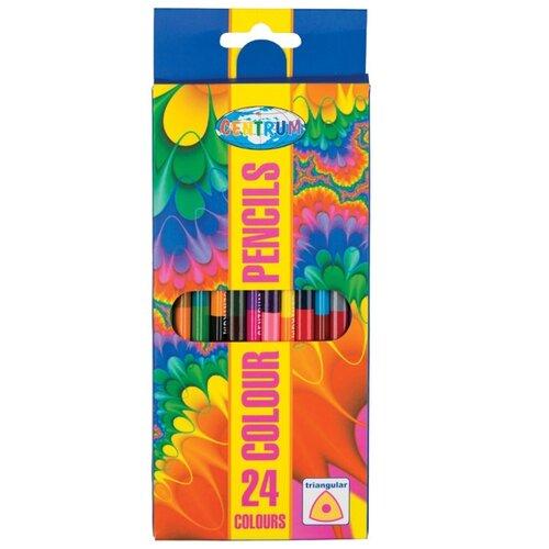 CENTRUM Цветные карандаши двусторонние 12 шт, 24 цвета (87710) карандаши цветные krasin веселый кролик 24 шт
