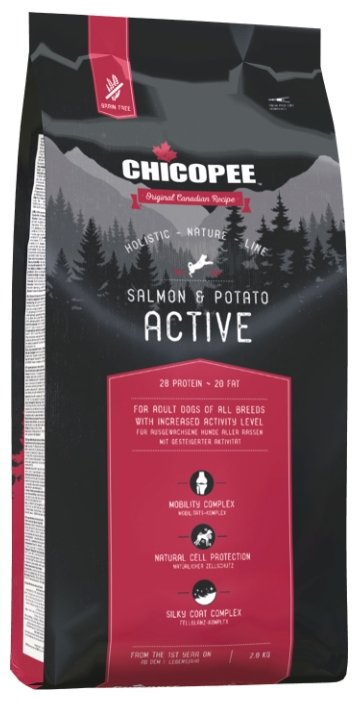 Корм для собак Chicopee Holistic Nature Line Active Salmon and Potato