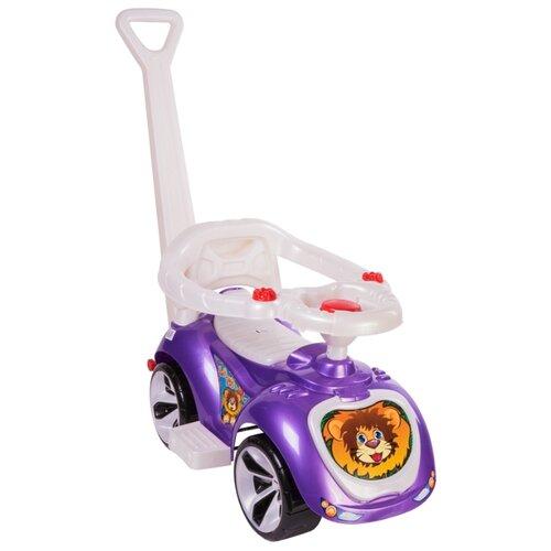 Купить Каталка-толокар Orion Toys Лапка (809) со звуковыми эффектами фиолетовый, Каталки и качалки