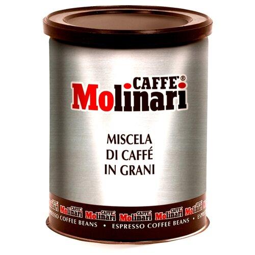 Кофе в зернах Molinari 5 звезд, жестяная банка, арабика/робуста, 250 г фото