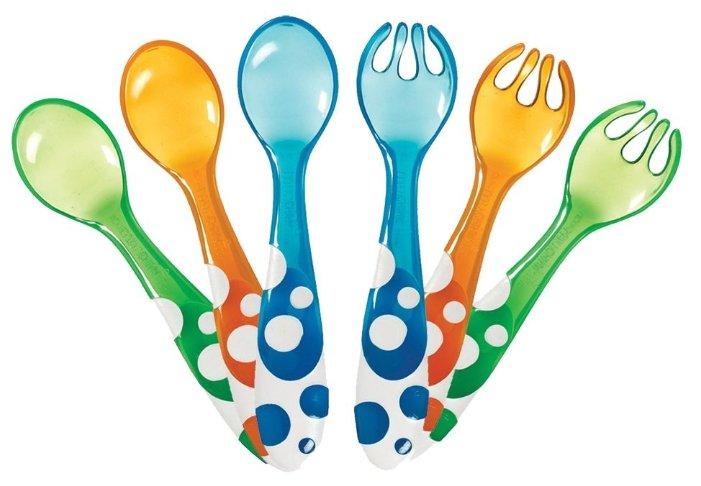 Munchkin набор ложки, вилки пластиковые 6 шт.
