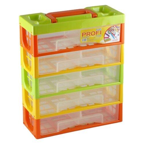 Контейнер ПОЛИМЕРБЫТ Профи Kids 32х14х38 см (50001) красный/зеленый/желтый полимербыт стол детский полимербыт малыш красный