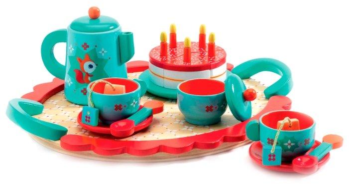 Набор продуктов с посудой DJECO Чаепитие у Лисички 06633