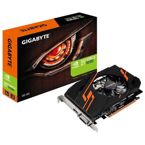 Видеокарта GIGABYTE GeForce GT 1030 1290MHz PCI-E 3.0 2048MB 6008MHz 64 bit DVI HDMI HDCP OC Retail