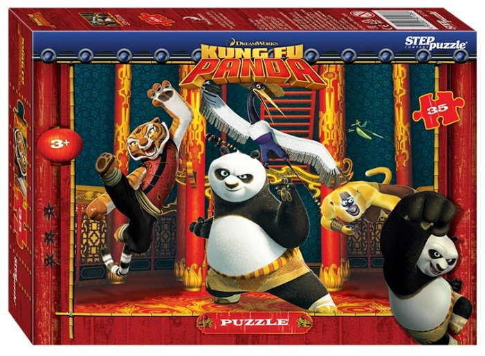 Пазл Step puzzle DreamWorks Кунг-фу Панда (91138), 35 дет.
